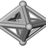Cristal représenté avec ses faces ajourées