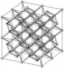 La structure 3D cristalline fractale modélisée en 3D