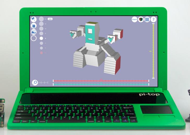 Modélisation 3D sur Raspberry avec Pi-Top et 3D Slash
