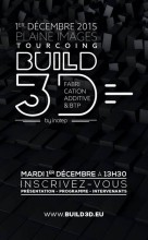 Flyer BUILD 3D : Fabrication additive & BTP