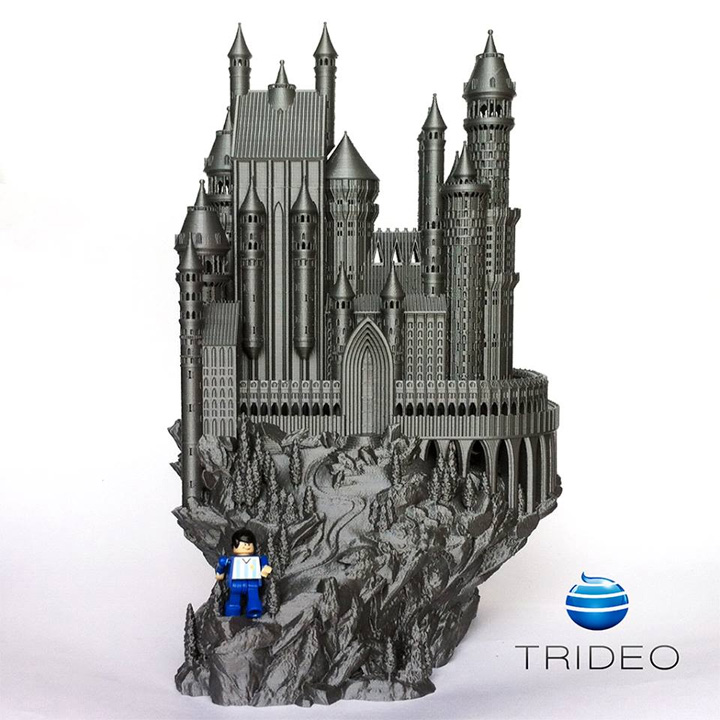 photo imprimante 3D Trideo PrintBox Max chateau medieval miniature