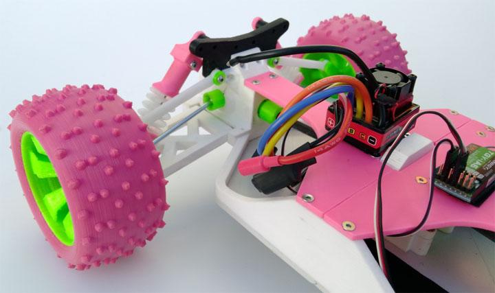 OpenRC voiture radiocommandee imprimee en 3D