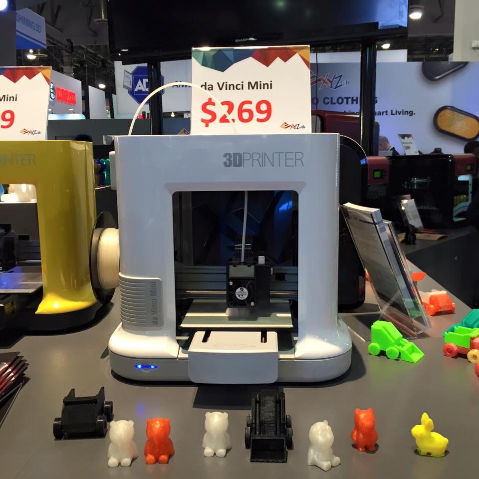ces 2016 les nouvelles imprimantes 3d xyzprinting. Black Bedroom Furniture Sets. Home Design Ideas