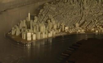 Zoom sur la ville de Manhattan imprimée en 3D