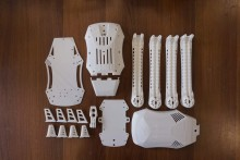 Drone 3DRobotics Iris+ imprimé en 3D
