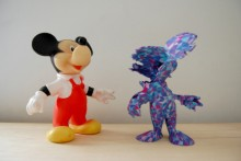 Mickey imprimé en 3D fail