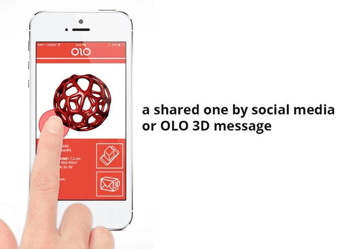 Partage d'objets 3D OLO 3D Message