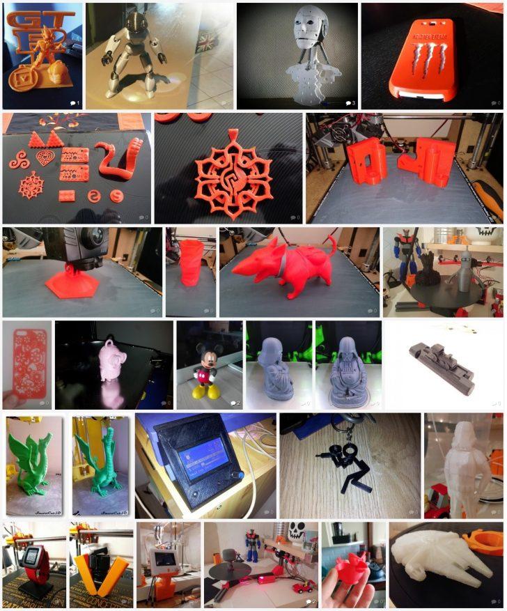 Galerie d'exemples impressions 3D