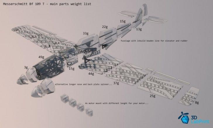 Plan du Messerschmitt Bf 109T