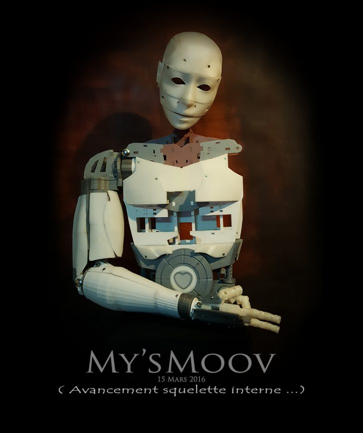 projet robot imprimé en 3D inmoov