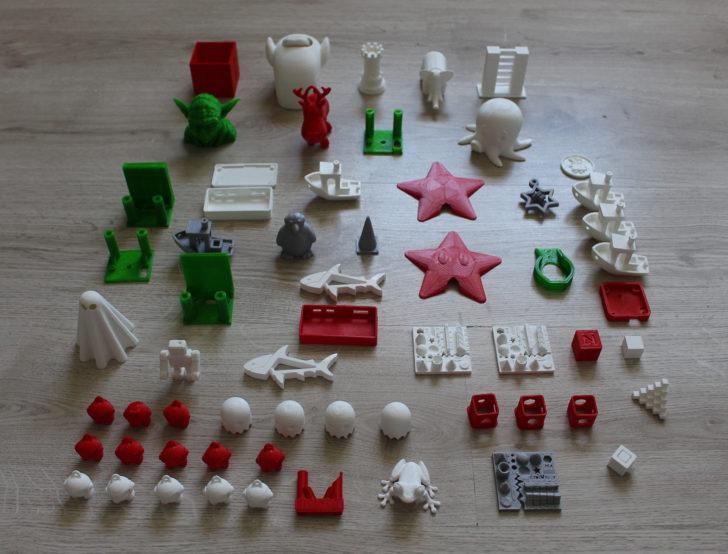 impressions 3D uDelta Mathieu