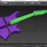 modele guitare 3D