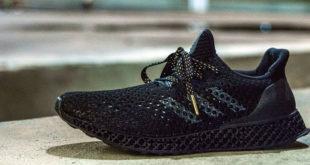 photo chaussure course a pied Adidas ultraboost imprimée en 3D