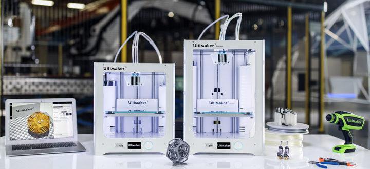 Sortie des imprimantes 3D Ultimaker 3 et UM3 Extended