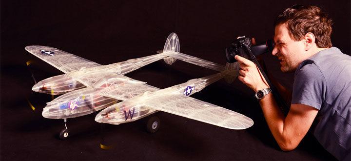 maquette P38 avion