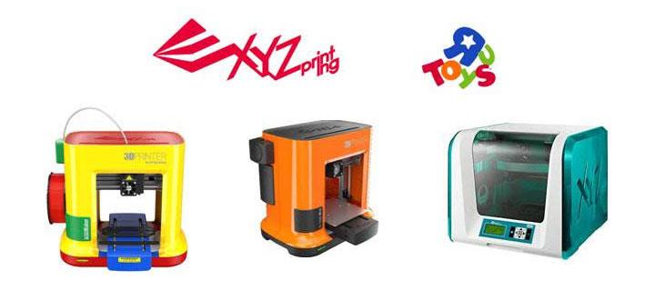 partenariat Toys'R'Us XYZprinting