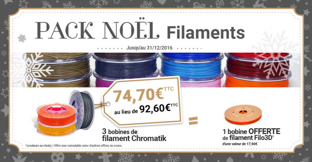 Dagoma promo Noel filament Chromatik