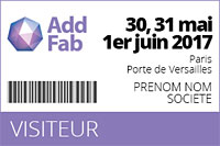 salon addfab badge visiteur