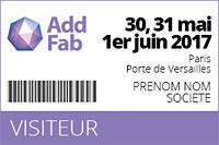 salon addfab badge visiteur