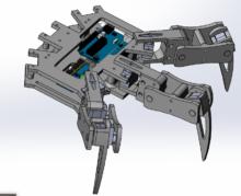schéma hexapode 3D