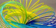 bobine filament PLA UniCoFil multi couleurs rainbow arc en ciel