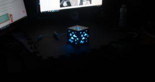 veilleuse imprimée en 3D allumée