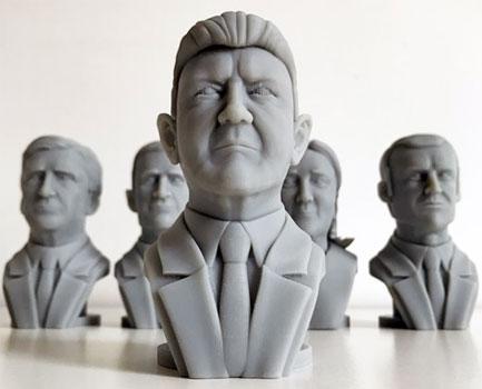 Jean Luc Melanchon buste 3D statuette
