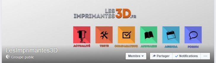 Groupe facebook LesImprimantes3D.fr