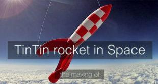 Tripodmaker fusée Tintin espace