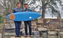 photo video planche de surf imprimée en 3D