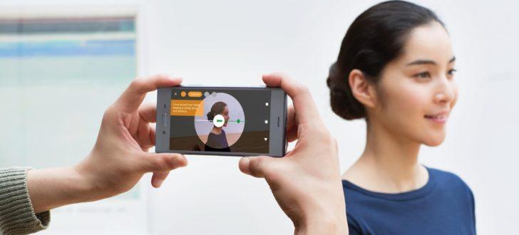 scanner 3d smartphone sony xperia xz1