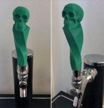 decoration Halloween impression 3D tete de mort