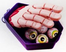 decoration Halloween impression 3D main yeux sang