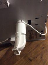 Connexion du support de bobine à l'imprimante