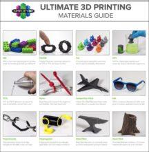 Tableau des filaments pour imprimante 3D Simplify3D