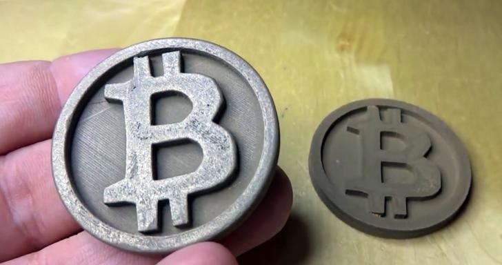bitcoin imprimés en 3d