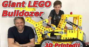 Bulldozer imprimé en 3D