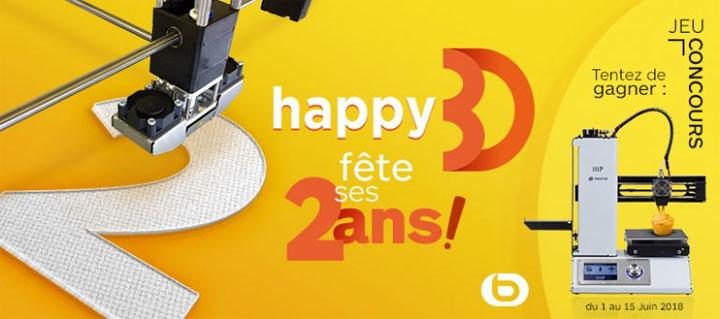 concours happy3d boulanger imprimante 3D anniversaire