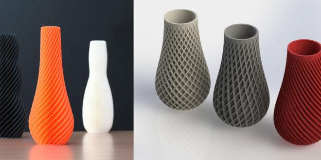 objet imprimer 3D fete des meres vase fleur