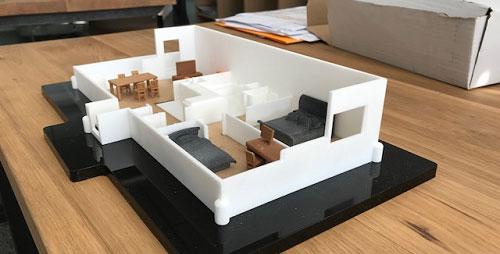 maquette appartement maison 3D Sculpteo Valoptim