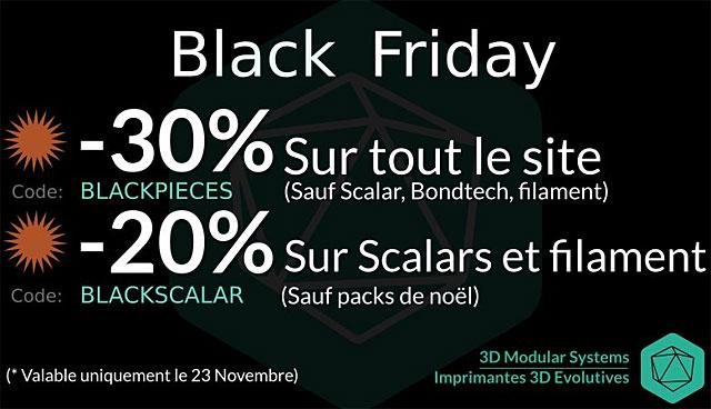 Black Friday 2018 3DMS 3D Modular Systems
