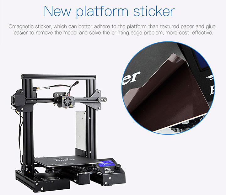photo imprimante 3D Creality Ender 3 Pro magnetic bed