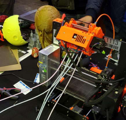 prusa 4 extrudeurs maker faire paris 2018 mfp