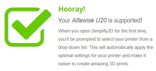 Simplify 3D Simplify3D Alfawise U20