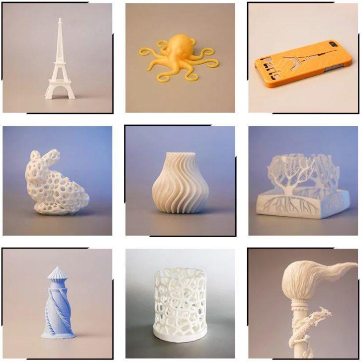 imprimante 3D moira df3 objets imprimés en 3D