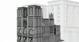 Notre Dame de Paris impression 3D