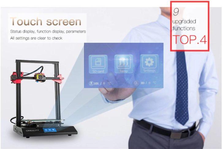 écran tactil creality3D cr10s pro test