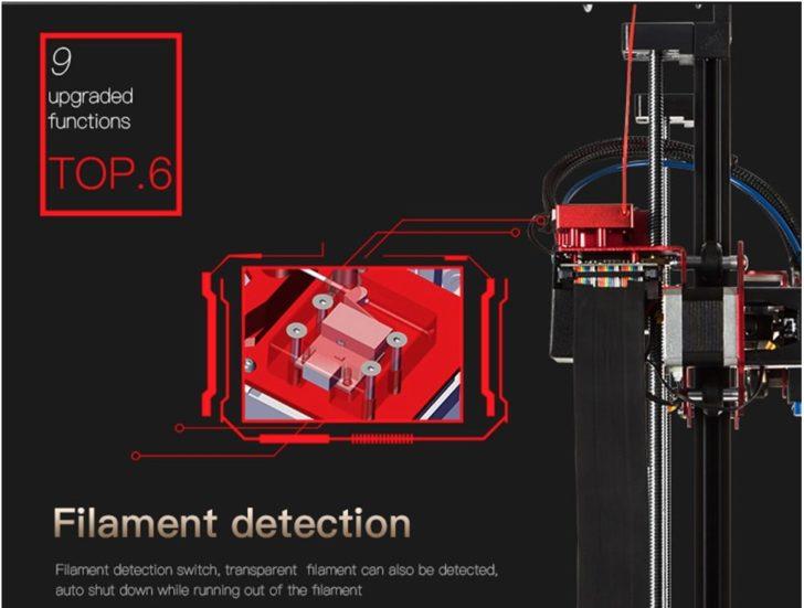 détecteur de filament imprimante 3D Creality3D CR-10S Pro