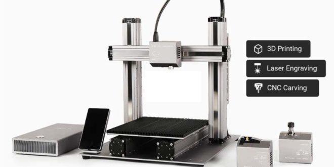 photo imprimante 3D Snapmaker CNC gravure laser
