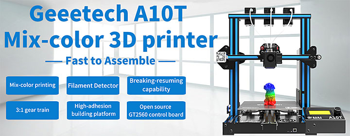 photo imprimante 3D Geeetech A10T triple extrudeur